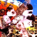 """Mystical Pussy"" 2006 Collage-painting on plexiglas"