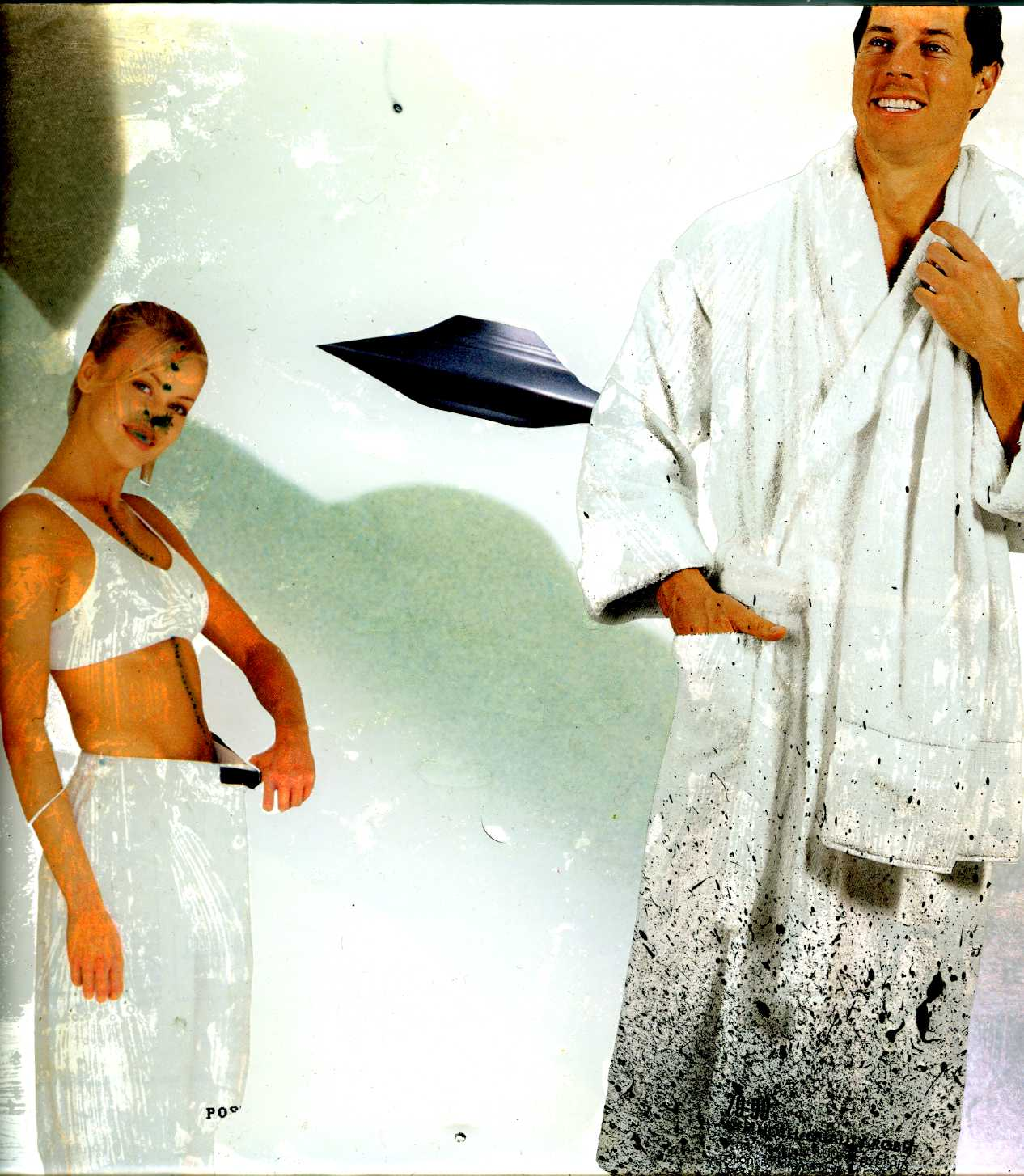 """Alien Emissions"" 2000 San Francsico, Collage-painting on plexiglas"